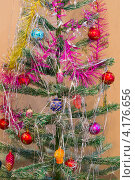 Новогодняя домашняя елка. Стоковое фото, фотограф Сергей Шолохов / Фотобанк Лори