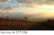 Купить «Гора Демерджи. Алушта, Крым, таймлапс», видеоролик № 4177156, снято 6 ноября 2012 г. (c) Артем Поваров / Фотобанк Лори