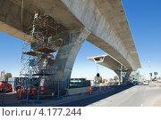 Строящийся мост. Стоковое фото, фотограф Кропотов Лев / Фотобанк Лори