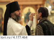 Купить «Шамордино, праздничная Рождественская литургия в Казанском соборе», эксклюзивное фото № 4177464, снято 26 мая 2010 г. (c) Дмитрий Неумоин / Фотобанк Лори