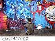 Граффити. Молодежная культура (2005 год). Редакционное фото, фотограф Александр Семеняко / Фотобанк Лори