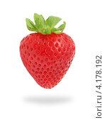 Купить «Одна клубника на белом фоне», фото № 4178192, снято 17 августа 2012 г. (c) Самохвалов Артем / Фотобанк Лори