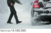 Купить «Мужчина садится в машину», видеоролик № 4186580, снято 12 января 2013 г. (c) Кекяляйнен Андрей / Фотобанк Лори