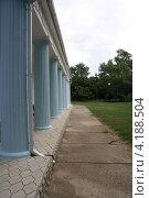 Голубые колонны. Стоковое фото, фотограф Евгений Корниенко / Фотобанк Лори