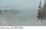 Купить «Густой туман над озером, таймлапс», видеоролик № 4189832, снято 13 января 2013 г. (c) Кекяляйнен Андрей / Фотобанк Лори