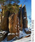 Купить «Столбы Перья», фото № 4193092, снято 25 февраля 2012 г. (c) Светлана Грызлова / Фотобанк Лори
