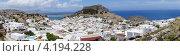 Вид на город Линдос, Греция (2012 год). Редакционное фото, фотограф Андрей Носов / Фотобанк Лори