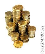 Монеты на белом фоне. Стоковое фото, фотограф Ксения Александрова / Фотобанк Лори