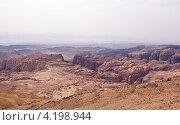 Вид на каменистую пустыню в Иордании (2012 год). Стоковое фото, фотограф Виктория Резниченко / Фотобанк Лори
