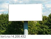 Купить «Пустой рекламный щит», фото № 4200432, снято 18 декабря 2018 г. (c) Сергей Куров / Фотобанк Лори