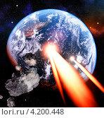 Купить «Столкновение астероида с Землей», иллюстрация № 4200448 (c) Сергей Куров / Фотобанк Лори