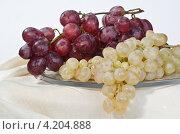Купить «Гроздья винограда на стеклянном блюде», фото № 4204888, снято 13 января 2013 г. (c) Владимир Вдовиченко / Фотобанк Лори