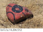 Камень в раскраске. Стоковое фото, фотограф Дмитрий Хорошун / Фотобанк Лори