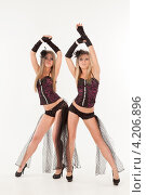 Купить «Две девушки в эротических нарядах», фото № 4206896, снято 12 января 2013 г. (c) Литвяк Игорь / Фотобанк Лори