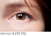 Купить «Женский глаз», фото № 4210732, снято 15 января 2013 г. (c) EugeneSergeev / Фотобанк Лори