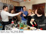 Купить «Встреча Нового года всей семьёй», эксклюзивное фото № 4210844, снято 1 января 2013 г. (c) Дмитрий Неумоин / Фотобанк Лори