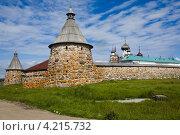 Купить «Спасо-Преображенский Соловецкий монастырь», фото № 4215732, снято 12 июля 2012 г. (c) Igor Lijashkov / Фотобанк Лори