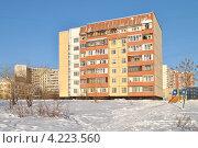 Купить «Суздальская улица, 8, район Новокосино, Москва», эксклюзивное фото № 4223560, снято 22 января 2013 г. (c) lana1501 / Фотобанк Лори