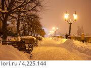 Купить «На набережной реки Цны. Ночной Тамбов», фото № 4225144, снято 19 января 2013 г. (c) Карелин Д.А. / Фотобанк Лори