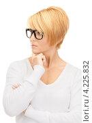 Купить «Строгая деловая женщина со светлыми волосами в белой блузке», фото № 4225832, снято 26 сентября 2010 г. (c) Syda Productions / Фотобанк Лори