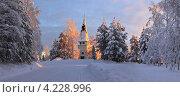 Там, где свет. Зимний пейзаж в заполярье. Стоковое фото, фотограф Катерина Берг / Фотобанк Лори
