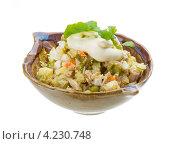 Салат из курицы с рукколой. Стоковое фото, фотограф Андрей Старостин / Фотобанк Лори