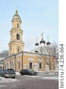 Купить «Церковь Николы в Толмачах, Москва», эксклюзивное фото № 4236664, снято 20 января 2013 г. (c) lana1501 / Фотобанк Лори