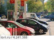 Купить «АЗС МТК на Сущёвском валу», эксклюзивное фото № 4241388, снято 24 сентября 2010 г. (c) Алёшина Оксана / Фотобанк Лори