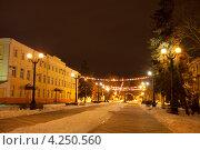 Купить «Город Тамбов. Улица Державинская», фото № 4250560, снято 1 февраля 2013 г. (c) Карелин Д.А. / Фотобанк Лори