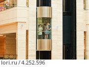 "Купить «Лифт в ТРЦ ""Афимолл Сити""», эксклюзивное фото № 4252596, снято 30 июня 2012 г. (c) Алёшина Оксана / Фотобанк Лори"
