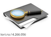 Купить «Папки под лупой», иллюстрация № 4266056 (c) Маринченко Александр / Фотобанк Лори