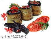 Рулеты из баклажанов начиненные бараниной. Стоковое фото, фотограф ValeriyK / Фотобанк Лори