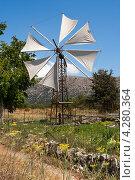 Ветряная мельница на плато Лассити. Крит. Греция (2011 год). Стоковое фото, фотограф Andrei Nekrassov / Фотобанк Лори