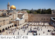 У стены плача. Иерусалим, фото № 4287416, снято 20 апреля 2012 г. (c) Наталья Волкова / Фотобанк Лори