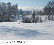 Окраина Новосибирска зимним днём (2013 год). Стоковое фото, фотограф Alexander Zholobov / Фотобанк Лори