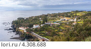 Вид с высоты на остров Сан-Мигель, Азорские острова (2012 год). Стоковое фото, фотограф Роман Сулла / Фотобанк Лори
