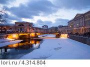Купить «Санкт-Петербург. Мало-Конюшенный мост», эксклюзивное фото № 4314804, снято 20 февраля 2013 г. (c) Литвяк Игорь / Фотобанк Лори