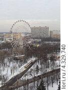 Купить «Москва, панорамный вид на  ВВЦ», эксклюзивное фото № 4329740, снято 23 февраля 2013 г. (c) Дмитрий Неумоин / Фотобанк Лори