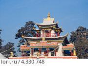 Купить «Крыша буддийского храма. Читинский дацан «Дамба Брайбунлинг»», эксклюзивное фото № 4330748, снято 12 января 2013 г. (c) Александр Щепин / Фотобанк Лори