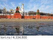 Весеннее настроение. Таяние льда на Москве-реке (2013 год). Стоковое фото, фотограф Валерия Попова / Фотобанк Лори