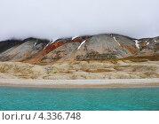 Арктический пляж в Шпицбергене (остров Свальбард) (2012 год). Стоковое фото, фотограф Наталия Давидович / Фотобанк Лори