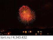 Праздничный салют. Стоковое фото, фотограф Дмитрий Кочерыгин / Фотобанк Лори