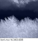 Снежинки макро и тёмный фон. Стоковое фото, фотограф konstantin tatonkin / Фотобанк Лори
