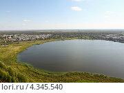 Водная поверхность,вода,озеро,горизонт, городок. Стоковое фото, фотограф Игорь Опойков / Фотобанк Лори