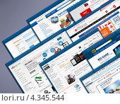 Купить «Популярные сайты Интернет-магазинов», фото № 4345544, снято 17 июля 2012 г. (c) Антон Стариков / Фотобанк Лори