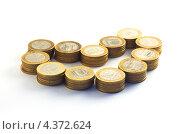 Стопки монет в форме сердца. Стоковое фото, фотограф Михаил Балберов / Фотобанк Лори