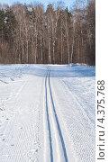 Купить «Трасса для беговых лыж», эксклюзивное фото № 4375768, снято 8 марта 2013 г. (c) Николай Коржов / Фотобанк Лори