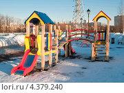 Детская площадка весной. Стоковое фото, фотограф Сергей Родин / Фотобанк Лори