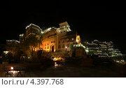 Ночная панорама старой крепости (2013 год). Стоковое фото, фотограф Сергей Аряев / Фотобанк Лори