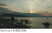 Закат на Ушканьих островах. Стоковое видео, видеограф Максим Марков / Фотобанк Лори